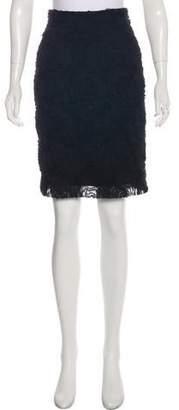 Nili Lotan Embroidered Pencil Skirt