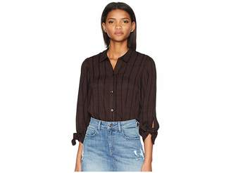 ae2c6bde at 6pm.com · BCBGeneration 80s Sleeve Oversized Button Down Women's Clothing