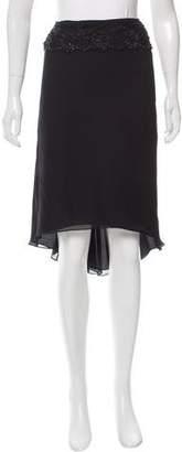 Matthew Williamson Embellished Lace Trim Knee-Length Skirt