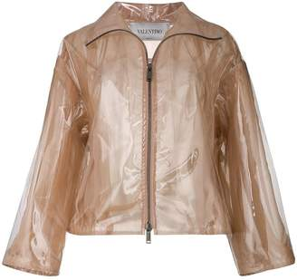 Valentino transparent rain coat