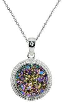 Lord & Taylor Sterling Silver & Multi-Druzy Quartz Pendant Necklace