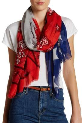 Blue Pacific Cashmere Flag Scarf