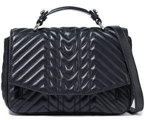 Maje L Dance Quilted Leather Shoulder Bag