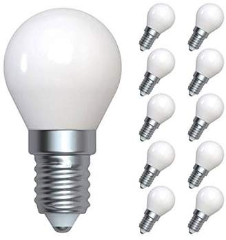 LUMiLiFE 4 W E14 LED Golf Filament 10 Pack Cool White Frosted Finish 35 W Replacement