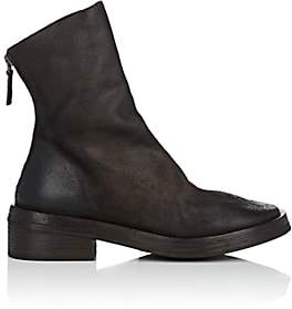 Marsèll Women's Back-Zip Leather Ankle Boots - Dk. brown