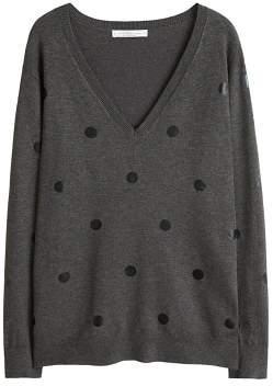 Violeta BY MANGO Polka dots knit dress