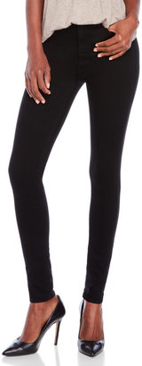 7 for all mankind Black High Waist Skinny Jeans $189 thestylecure.com