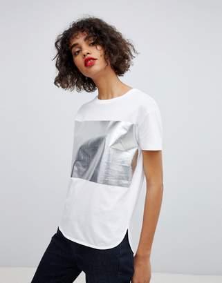 HUGO metallic logo t-shirt