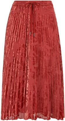Whistles Harlow Pleated Devore Skirt