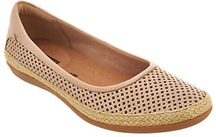 Clarks Perforated Leather Espadrilles -Danelly Adira