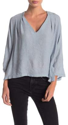 Anama Woven Side Tie Top