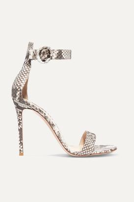 32b1120ff63 Gianvito Rossi Portofino 85 Python Sandals - Snake print