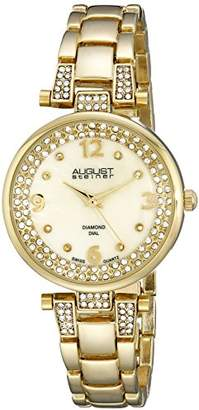 August Steiner Women's Quartz Watch with Mother of Pearl Dial Analogue Display and Gold Alloy Bracelet AS8137YG