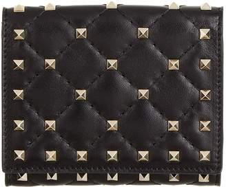 Valentino Small Rockstud Spike Flap Wallet