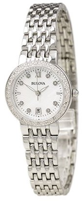 Bulova Women's Quartz Stainless Steel and Silver Plated Casual Watch(Model: 96R203) $100.34 thestylecure.com