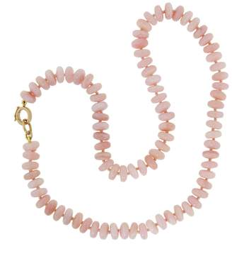 Irene Neuwirth 8mm Pink Opal Beaded Necklace - Rose Gold