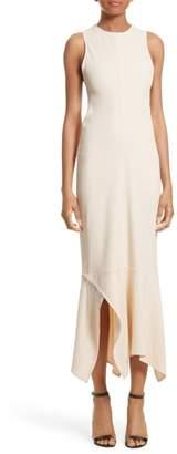 Victoria Beckham Handkerchief Hem Racerback Dress