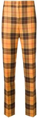 Alberta Ferretti tailored tartan trousers