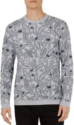 Ted Baker Foxie Monkey & Leaf-Print Sweatshirt