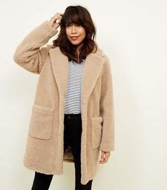 New Look Cream Teddy Coat