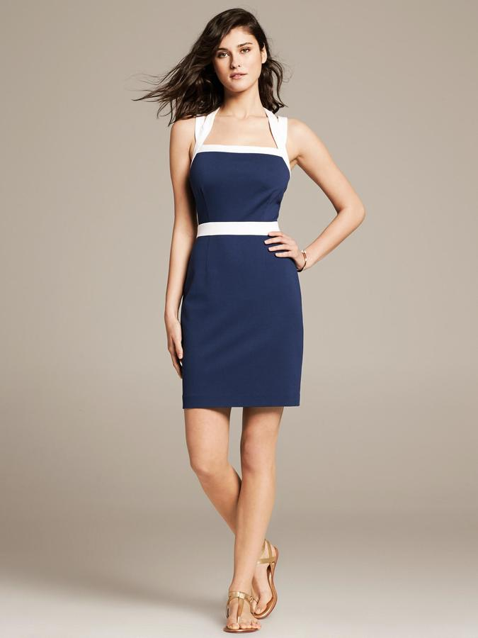 Banana Republic Colorblock Ponte Sheath