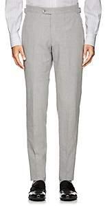 P. Johnson Men's Cotton Seersucker Slim Trousers - Gray
