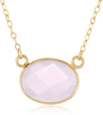 Lapis Gold-Plated Sterling Silver Rose Quartz Pendant Necklace