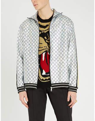 Gucci Tiger metallic wool-blend jacquard jumper