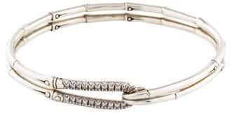John Hardy Diamond Bamboo Hook Bracelet