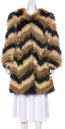 Raoul Fur Knee-Length Coat