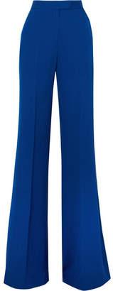 Elie Saab Silk Crepe De Chine Flared Pants - Blue
