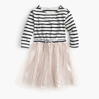 J.Crew Girls' stripe-and-shimmer dress