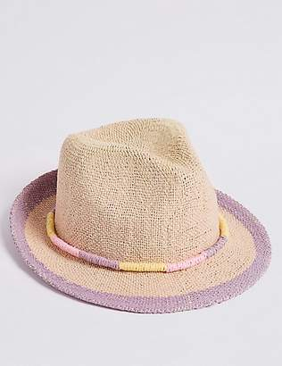 Marks and Spencer Kids' Straw Summer Hat (6 Months - 6 Years)