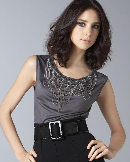 Catherine Malandrino Draped-Chain Shell