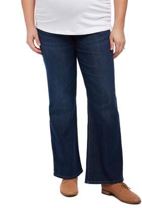 Motherhood Maternity Plus Size Petite Secret Fit Belly Boot Cut Maternity Jeans