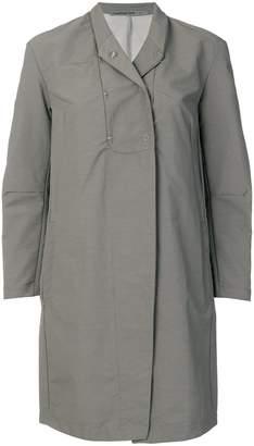 Transit press stud lapel raincoat