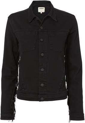 L'Agence Celine Fringe Denim Jacket