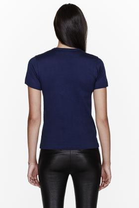 Comme des Garcons Navy heart Emblem T-Shirt