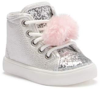Carter's Christa 3 High-Top Faux Fur Pom Pom Sneaker (Toddler & Little Kid)