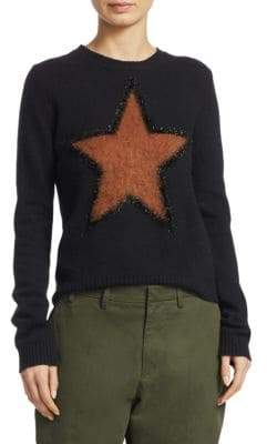 No.21 No. 21 Star-Knit Virgin Wool Sweater
