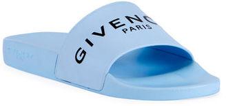 Givenchy Men's Logo Pool Slide Sandals $295 thestylecure.com