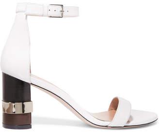 Stuart Weitzman Saturn Leather Sandals - White
