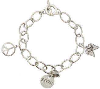 Catherine Galasso Peace, Love & Faith Charm Bracelet
