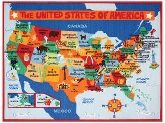 G.A. Gertmenian & Sons My Country USA Map Area Rug