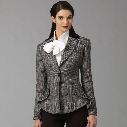 Carolina Herrera Tweed Riding Jacket