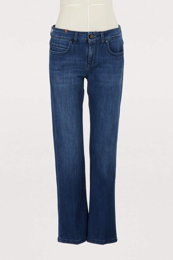 Bootcut mid-rise cropped capri jeans