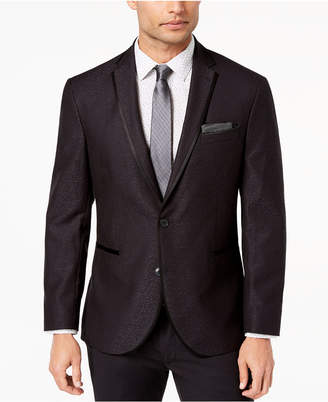 Kenneth Cole Reaction Men Slim-Fit Stretch Black Jacquard Dinner Jacket, Online Only