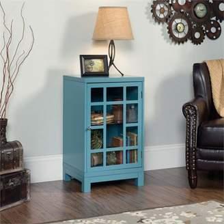 Sauder Carson Forge Display Cabinet, Moody Blue Finish