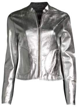 Moto LaMarque Chaplin Reversible Leather Jacket