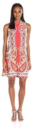 Tiana B Women's Printed Knit A-line Sleeveless Dress
